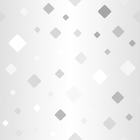 Glowing rounded diamond pattern. Seamless vector background - gray, silver and white diamonds on gradient backdrop