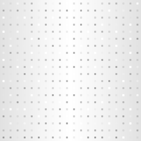 Gradient square pattern. Seamless vector background - gray, silver and white rounded squares on glowing backdrop Illustration