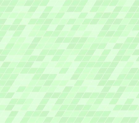 Green parallelogram pattern. Seamless vector background - green polygons on light mint backdrop Illustration