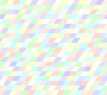 Parallelogram pattern. Seamless vector background with violet, rose, cyan, yellow, green polygons Illustration