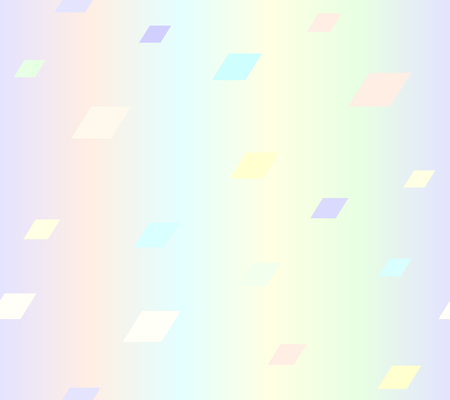 Glossy polygon background. Seamless vector pattern - violet, rose, cyan, yellow, green parallelograms on glowing backdrop