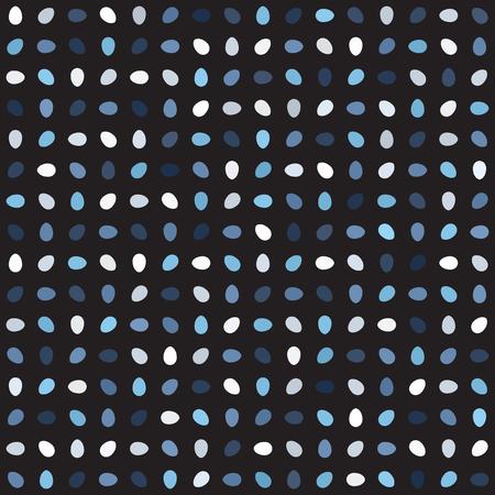 Egg pattern. Seamless vector background - blue, gray and white eggs on black backdrop Illustration