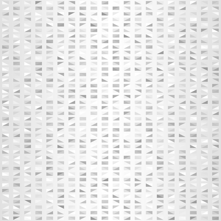Glowing triangle pattern. Seamless vector background - gray, silver and white right triangles on gradient backdrop
