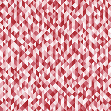 Triangle pattern. Seamless vector background with red, rose and pink triangles