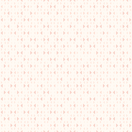 Rose triangle background. Seamless vector pattern - red triangles of different size on light pink backdrop