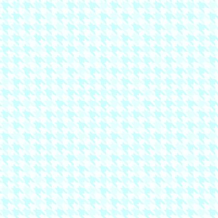 Cyan houndstooth background. Seamless vector pattern - blue ornament on light cyan backdrop
