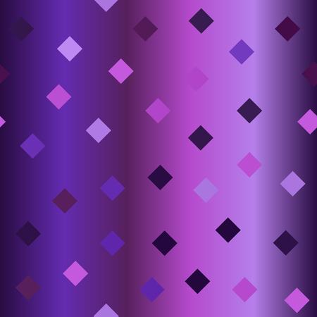 Glossy diamond pattern. Seamless vector background - amethyst, lavender, plum, purple, violet diamonds on gradient backdrop