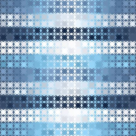 Glowing  striped pattern. Seamless vector background - blue, gray and white shapes on gradient backdrop  イラスト・ベクター素材