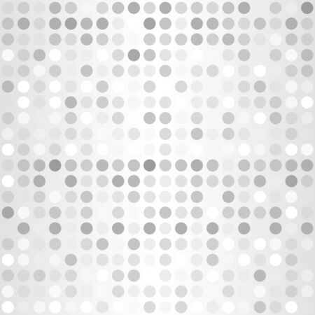 Polka dot pattern. Vector seamless silver background - gray and white dots on gradient backdrop  イラスト・ベクター素材