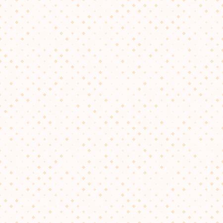 Peach diamond pattern. Seamless vector background - orange diamonds of different size on beige backdrop