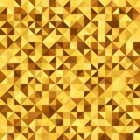 Right triangle pattern. Seamless vector background with yellow, brown, beige, amber, gold right triangles
