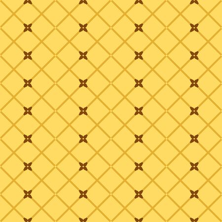 Fire match pattern. Seamless vector background - brown crossed matches on yellow backdrop Ilustración de vector