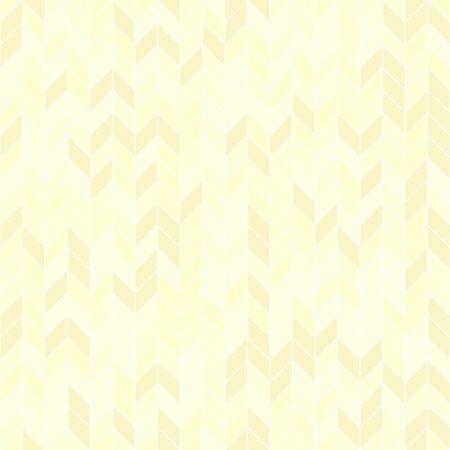 Yellow herringbone pattern. Seamless vector background - yellow polygons on light backdrop