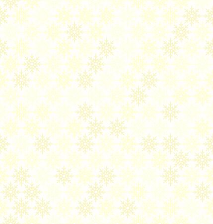 Snowflake pattern. Seamless vector background with yellow snowflakes on light yellow backdrop Banque d'images - 135493071