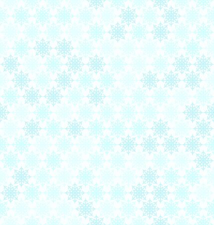 Snowflake pattern. Seamless vector winter background: cyan snowflakes on light blue backdrop