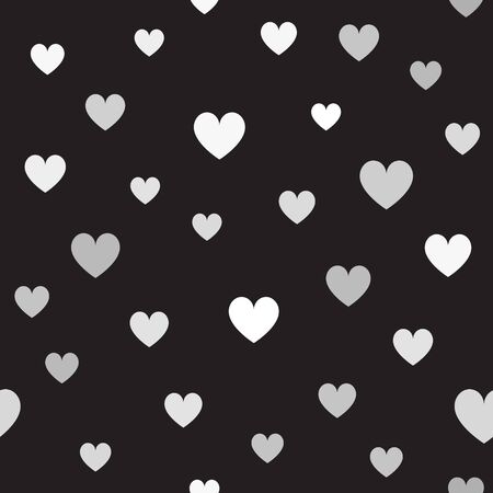 Gray heart pattern Иллюстрация