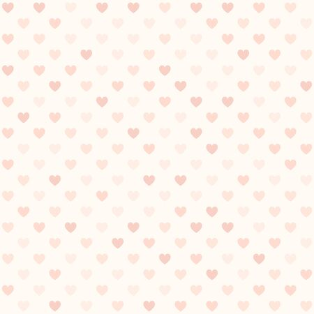 Pink heart pattern. Seamless vector background - red hearts on light rose backdrop Иллюстрация
