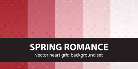 Heart pattern set Spring Romance