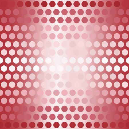 Striped polka dot pattern. Seamless vector background - red, rose and pink circles on glowing backdrop Иллюстрация