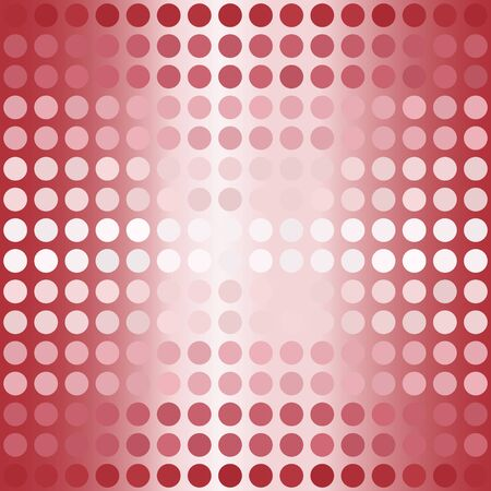 Striped gradient polka dot pattern. Seamless vector background - red, rose and pink dots on glowing backdrop