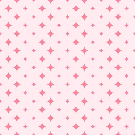 Diamond pattern. Seamless vector background - red diamonds on rose backdrop