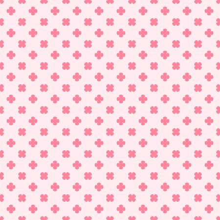 Rose clover pattern seamless pattern Иллюстрация