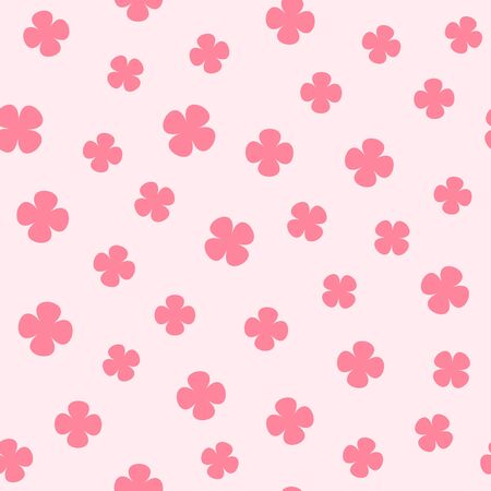 Rose clover pattern seamless pattern 向量圖像
