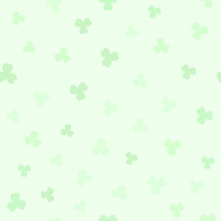 Green shamrock pattern. Seamless vector background - green trefoils on mint backdrop 向量圖像