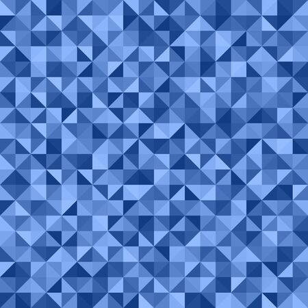 Right triangle pattern. Seamless vector background with blue triangles