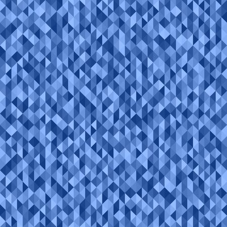 Triangle pattern. Seamless vector background with blue triangles