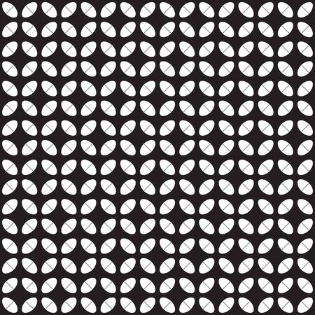 Gray pastil pattern. Seamless vector background - white and gray pills on black backdrop Иллюстрация