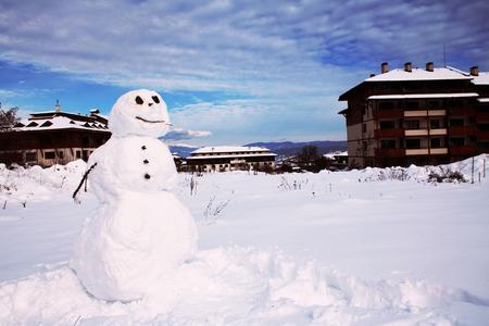 snow man: Snow man in Bansko city