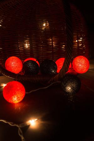 cotton ball: Colorful Light Cotton Ball , String light