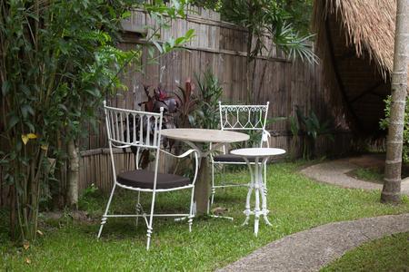 chair garden: Chair garden on noon time
