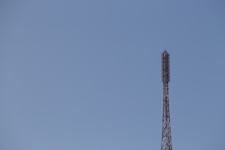 antennas: Telecommunication mast TV antennas wireless technology Stock Photo