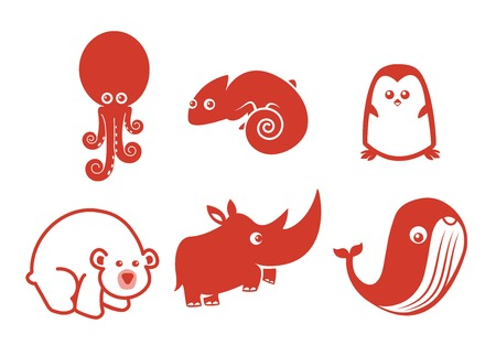 rare animal: Most of people love animal, and there are my cute design vector with any kind of rare animal. There are Octopus, Chameleon, Penguin, Polar Bear, Rhinoceros, and Whale. So hope you are enjoy my design! Illustration