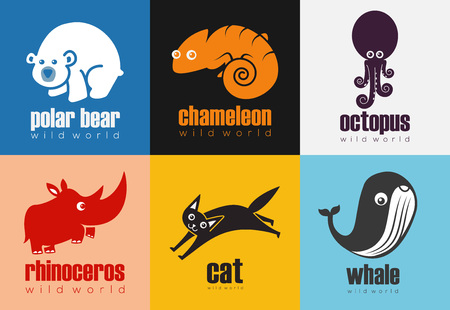 Animal Icon Set - Wild World 向量圖像