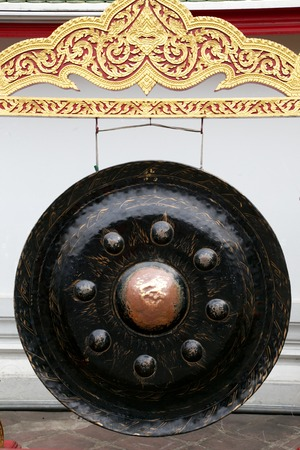 rin gong: Gong in Wat Pho Temple-Bangkok-Thailand Stock Photo