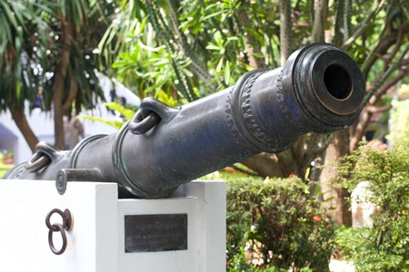 barrel bomb: Reproduced cannon as monument in Thailand