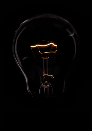 bulb with black background
