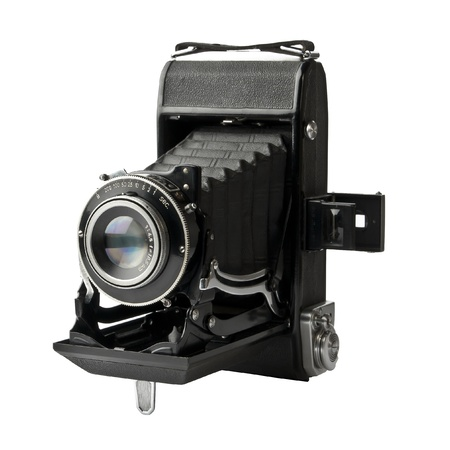 Vintage camera isolated