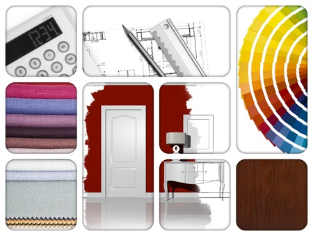 composition of materials and design tools Stock Photo - 14391998