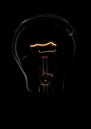bulb with black background Stock Photo - 14391884