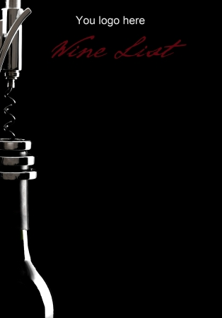 bottle of wine and corkscrew Stock Photo - 14391882