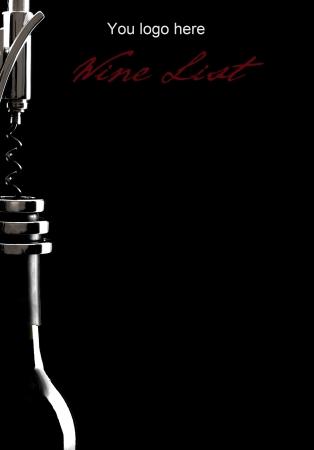 fles wijn en kurkentrekker Stockfoto