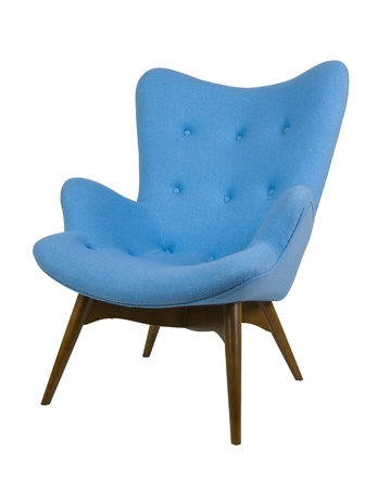 Scandinavian armchair Stock Photo