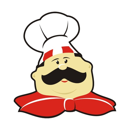Cartoon chef with hat Illustration