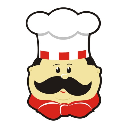 commercial kitchen: Cartoon chef