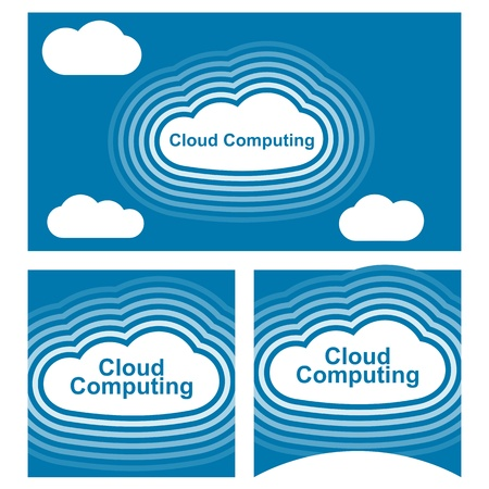 cloud computing concept vector in blue