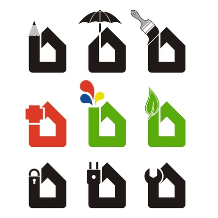 Home icons Stock Vector - 16294522